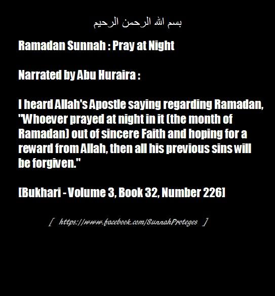 ramadan pray at nite